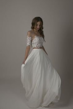 Bride by Sarah Seven - The Romantics Collection - Bronte gown Boho Wedding Dress, Boho Dress, Lace Dress, Two Piece Wedding Dress, Bridal Gowns, Wedding Gowns, Wedding Suite, Best Gowns, Sarah Seven