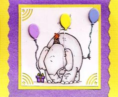 Created with Whipper Snapper Stamp Birthday Elephant   Made by Char