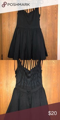 Boutique little black dress Only worn once. Has a really cool back cutout! Tea n Cup Dresses Mini