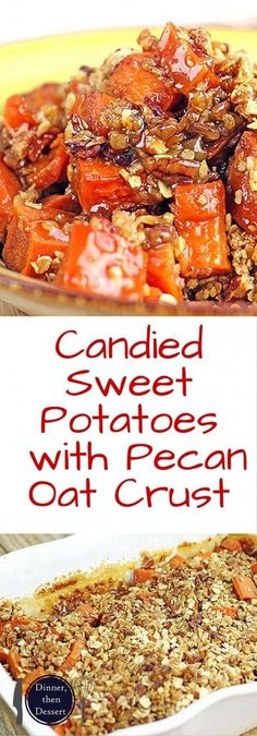 Old Fashioned Sweet Potatoes, these are topped with a crispy Pecan ...