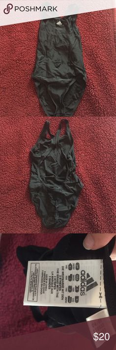 Adidas one piece swimsuit adidas one piece swimsuit-- not sure what size according to tag but picture is posted, i would assume XS/S Adidas Swim One Pieces