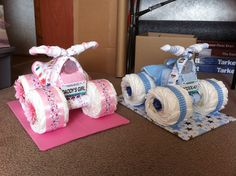 4 Wheelers Made Out Of Things For Ba All Useable Basket inside The Most Baby Shower Things 4 Wheeler Baby Shower Diapers, Baby Shower Cakes, Baby Shower Themes, Baby Boy Shower, Baby Shower Gifts, Tricycle Diaper Cakes, Diaper Cake Boy, Nappy Cakes, Baby Shower Centerpieces