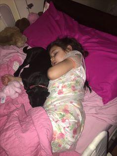 Scarlett and her puppy,Rosie.
