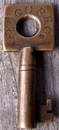 F Brass Railroad Key
