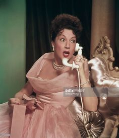 Actress and singer Ethel Merman in the 1953 film of the Irving Berlin musical 'Call Me Madam'.