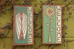 Powers Fine Art Photography & Kate Lally Ceramics - Dayton, OH, United States. Kate Lally Ceramics. Welcome Plaque