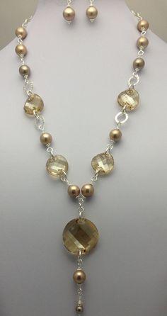 Swarovski Elements/Mother of Pearl Set $125
