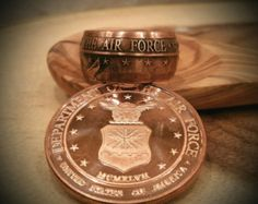 Air Force ring - us air force ring - Air force - USAF - Military Ring - USAF Ring - Hand Forged .999 Pure Copper Coin Ring - US Air Force