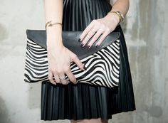 Enter to WIN this fabulous leather clutch with an amazing zebra print on the blog right now - a $198 value!