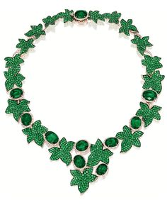 """And finally: the bright, glamor of Michele della Valle's """"Ivy"""" necklace. (I'm pretty sure you can tell where the name came from)."""
