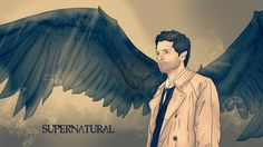 Destiel, Dean and Castiel, Wings (SUPERNATURAL) by nuriamoon on ...