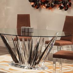 Shahrooz Crystals Dining Table 60 U0027 5200.00   Tables   Pinterest   Tables,  Interiors And House