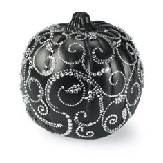 Halloween Bling Pumpkins - Black  Cream