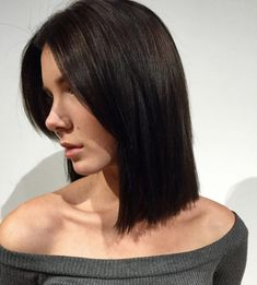 straight long bob by Julie