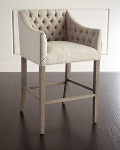 Shop Pepper Tufted Barstool at Horchow, where you'll find new lower shipping on hundreds of home furnishings and gifts. At Home Furniture Store, Home Decor Furniture, Home Furnishings, Kitchen Stools, Counter Stools, Bar Stools, Kitchen Dinning, Comfortable Dining Chairs, Home Remodeling