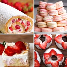 6 Strawberry Cheesecake Desserts by Tasty