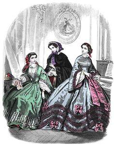 Dressed for Dinner in 1860