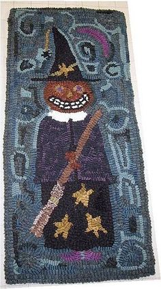 Witches in Wool Applique | Found on flickr.com