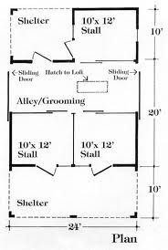 Image result for how to build a simple three stall barn
