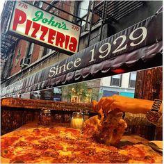 John's Pizzeria of Bleecker Street (NYC): Coal-Fired Pizza.