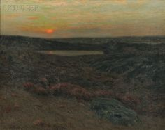 """""""Sunset in New England,"""" Charles Warren Eaton, oil on canvas, 36 x 45"""", private collection."""