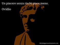 Aforisma di Ovidio , Un piacere senza rischi piace meno.