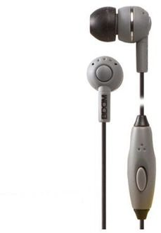 BOOM Spoken Leader In-Ear Headphones with 1 Button Mic (Gray)
