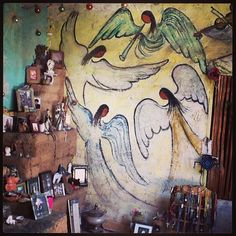 DeGrazia's Mission in the Sun angels mural.