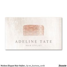 Modern Elegant Hair Stylist Rose Gold Sequin Comb Hair Salon Business Card - fun festive design for hairdressers and cosmetologists.