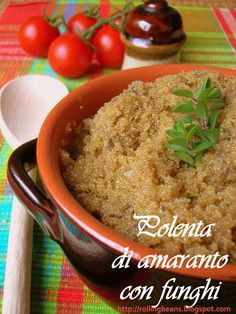 Polenta di amaranto e funghi  Amaranth Polenta with Mushrooms #ricette #amaranto #vegan ricette vegane vegan recipes