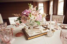 Wedding Centerpiece with Picture Frames | http://www.karaschultz.com/