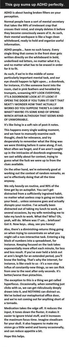 Description of Adult ADHD.