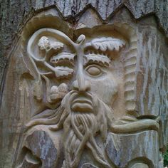 "My Carving/design of the ""green man"""