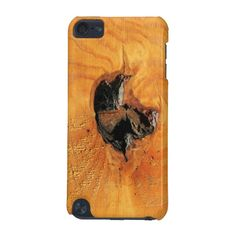 Orange natural wood with black hole and spiderweb ipod touch case  This Product Qualifies For: EXTENDED: 17.76% Off ALL Orders To Celebrate Independence Day!   Enter 4THOFJULYDAY