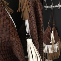 Sac Swing cousu par Stelcreamy - Tissu(s) utilisé(s) : Simili cuir et coton - Patron Sacôtin : Swing