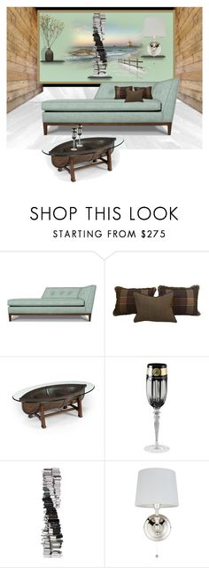 """""""Solitude"""" by nusongbird ❤ liked on Polyvore featuring interior, interiors, interior design, home, home decor, interior decorating, Danner, Ralph Lauren, Magnussen Home and Versace"""
