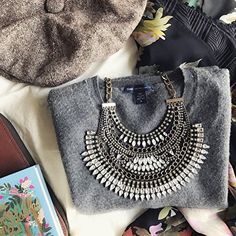 Daring and Bold Statement Necklace #ootd #fashion -  34,90 € @happinessboutique.com