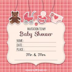 Invitación babyshower para niña.