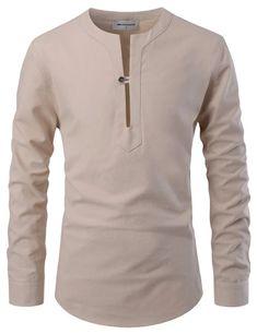 Beijing Slit Collar Henley Shirt – Louie Supply Co. African Wear Styles For Men, African Shirts For Men, African Dresses Men, African Attire For Men, African Clothing For Men, Latest African Fashion Dresses, Ankara Fashion, African Style, African Women
