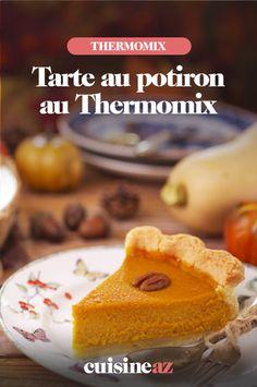 La tarte au potiron est un dessert traditionnel de la cuisine américaine.Voici la recette pour la réaliser auThermomix. #recette#cuisine#robotculinaire#thermomix#tarte#potiron#americaine