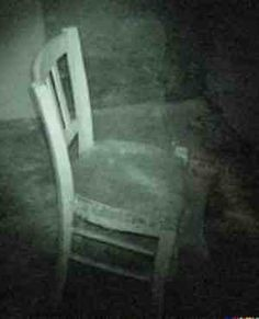 ????This pic looks like it was taken on an investigation somewhere or possibly a still from a night vision camera. Can you see anything on the chair? You decide  HBI Haunted Britain Investigations