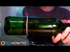 Have lots of empty wine bottles and don't know what to do with them? Learn how to cut glass with a string and fire to make amazing drinking glasses! On our O...