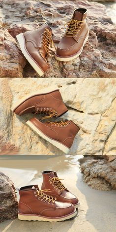 Red Wings by lynn Trendy Mens Shoes, Men S Shoes, Mens Lace Up Boots, Leather Boots, Red Wing Moc Toe, Fashion Boots, Mens Fashion, Kicks Shoes, Red Wing Boots