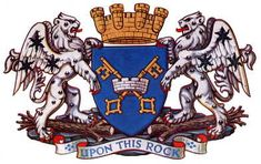 Coat of arms of Peterborough City Council Motto: Upon this rock