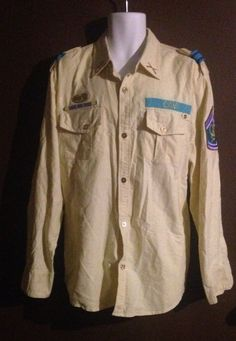 Cavi Product Of Great Taste Military Style Patch Shirt Size 2XL #Cavi