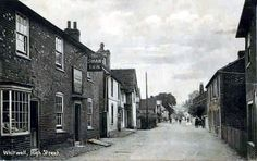 High Street, Whitwell. #postcards