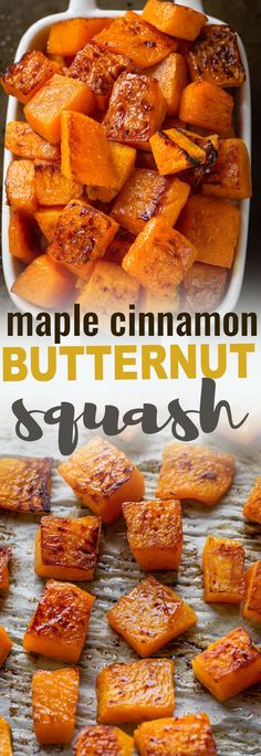 Maple Cinnamon Roasted Butternut Squash makes an easy, healthy & delicious side dish perfect for Thanksgiving, Christmas, Easter or any holiday gathering. Best of all, this quick and simple recipe takes less than 10 minutes of prep time and is perfect for Autumn / fall harvest!