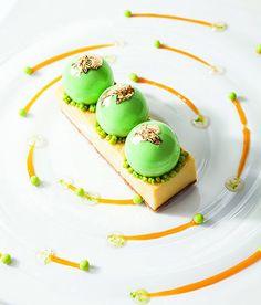 Sebastien Thieffine's Modern Key Lime Pie....it looks so perfect!! I wanna try making it!!