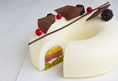 Tort herbaciano-waniliowy Mango, Nalu, Aesthetic Food, Panna Cotta, Cake Decorating, Cheesecake, Deserts, Dessert Recipes, Pudding