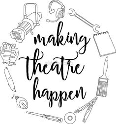 'Making Theatre Happen - Technical Theatre' Sticker by alexbeppo Drama Theatre, Theatre Nerds, Theater, Musical Theatre Quotes, Theatre Jokes, Theatre Posters, Theatre Stage, Drama Teacher, Drama Class